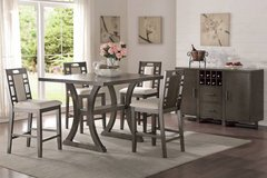 New Earthy Gray Counter Height Table + 4 Chairs FREE DELIVERY in Oceanside, California