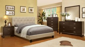 New California or King Ivory Tufted Bed Frame FREE DELIVERY in Oceanside, California