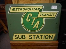 Authentic Vintage CTA Sign(s) in Elgin, Illinois