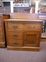 Beautiful Oak Cabinet with Mirror in Naperville, Illinois