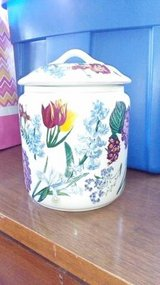 Floral Ginger Jar with Lid in Orland Park, Illinois