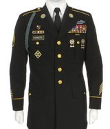 men's asu enlisted sewell dress blue jacket us army service uniform jacket 46 s in Fort Carson, Colorado