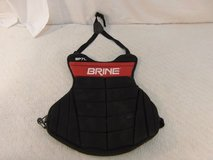 children teenager brine red black elastic bands lacrosse chest pad 33856 in Huntington Beach, California