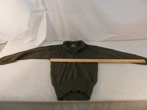 military issue man's dark brown 5 button 100% wool large (42-44) sweater 33855 in Fort Carson, Colorado
