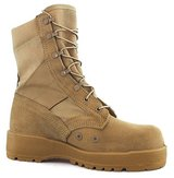 wellco hot weather 9.5 regular 9 1/2 reg tan boots speed laces vibram soles in Fort Carson, Colorado