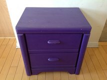 2 Drawer Purple Painted Nightstand in Chicago, Illinois