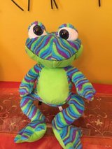 20'' frog printed plush toy factory cool colorful frog plush blue green in Morris, Illinois