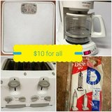 coffee maker, toaster, scale, vacuum bag in Pearland, Texas