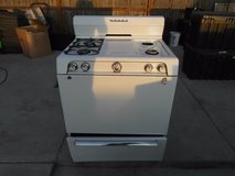 vintage vesta white working gas range oven stove missing the grill plates 33742 in Huntington Beach, California