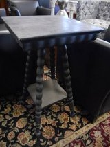 Antique Black End Table in Bartlett, Illinois