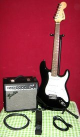 FENDER SQUIER STRAT W/AMP + MORE in Bartlett, Illinois
