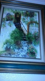 2 -19 x 23 framed oil painting of cottages in Italy in Sacramento, California