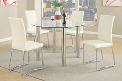 New Round Table Glass Dining Table + 4 Chairs Set FREE DELIVERY in Vista, California