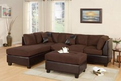 Sectional Sofa Microfiber Chocolate + Ottoman FREE DELIVERY in Vista, California