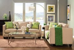 Lasso Beige Linen Fabric Sofa & Loveseat  FREE DELIVERY in Miramar, California