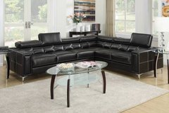 New Black Modern Bonded Leather Sectional Sofa  FREE DELIVERY in Miramar, California