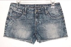 Girls 16r Rock Your JUSTICE Simply Low Cutoff Acid Wash Denim Jean Shorts 16 in Morris, Illinois