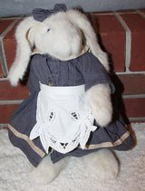 Stuffed Bunny in Dress & Apron, Movable Arms & Legs in Chicago, Illinois