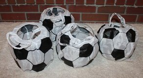 Soccer Ball Easter Baskets  - 4, Collapses to Store Flat! in Chicago, Illinois