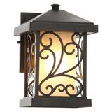 Cypress Collection 1-Light Forged Bronze Wall Lantern in Bolingbrook, Illinois