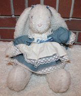 Fleece Bunny in Ruffled Dress, Weighted Base, 17 Inches in Batavia, Illinois