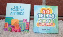 Two Fun Tiny Books-Keep A Positive Attitude & 50 Things to Always Remember NWT in Glendale Heights, Illinois