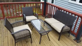 Furniture Garden Set 4 Pc Patio Deck Outdoor Rattan Wicker Chair Sofa in Bolingbrook, Illinois