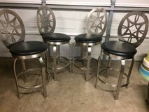 Stainless steel swivel bar stools with backs in Lockport, Illinois