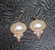 Drop Faux Pearl & Rhinestone Pierced Drop Earrings in Naperville, Illinois