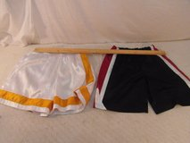 (2) children youth unisex nike large white yellow / black red white shorts 33891 in Fort Carson, Colorado