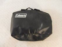 "black coleman brand camping 14"" x 11"" x 5"" carrying handles zip up bag 33892 in Huntington Beach, California"