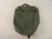 vintage military surplus olive drab rubber black mask storage bag 33901 in Huntington Beach, California