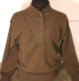 100% acrylic dscp od ww ii brown 4 button sweater military xlarge(46-48) in Fort Carson, Colorado