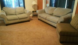 Pastel Blue Couch - Love Seat & Accent Chair in Tacoma, Washington