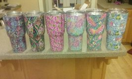 Lilly Pulitzer Designed 30oz Tumbler with closing lid and free straw in Warner Robins, Georgia
