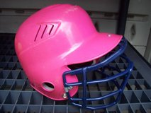 GIRLS SOFTBALL HELMET W/ FACE GUARD AND 5 BALLS in Glendale Heights, Illinois
