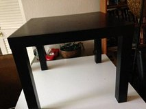 Home Office Modern Small Square Black Wood End Table Nightstand Furnit in Sacramento, California