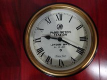 VINTAGE PADDINGTON STATION WALL CLOCK by THOMAS KENT made in ENGLAND in Travis AFB, California