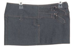 Blue Asphalt Jeans Pencil Mini Skirt Womens 5 Juniors w Adjustable Metal D-Ring in Morris, Illinois