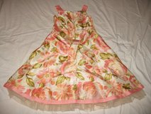 NEW GIRLS size 10  coral green beige floral fashion weddng partty dress clothes in Cochran, Georgia
