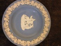Wedgwood Blue White ROUND PIN TRAY Muses Feeding Pegusus in Hill AFB, UT