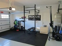 Rogue Squat rack Rower Barbell Bumpers plates weights CrossFit in Camp Lejeune, North Carolina