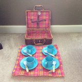 Kids Picnic wicker basket with accessories in Fort Campbell, Kentucky