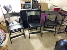 3 Vintage Palmer Snyder black Wood Folding Chairs in Sacramento, California