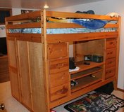 Loft Bed with desk and storage in Naperville, Illinois