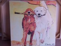 Canvas Wall Art - Two Dogs in Chicago, Illinois