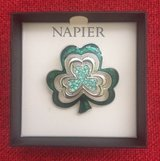 Napier St.Patricks Day Shamrock Flower Clover Pin Brooch in Lockport, Illinois