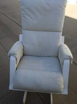 White Leather Glider Rocker so comfortable you will fall asleep in Beale AFB, California