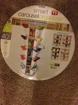 Smart Carousel Organizer, 5-Shelf 360 Spin 40 Pockets 5 Shelves Tensio in Sacramento, California