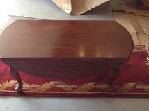 Coffee table mahogany drop leaf good condition in Naperville, Illinois